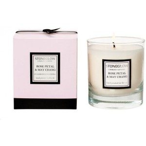Stoneglow Rose Petal May Chang candle
