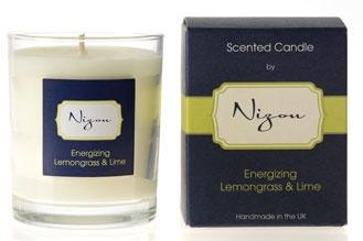 Energizing Lemongrass and Lime Scented Candle by Nizou