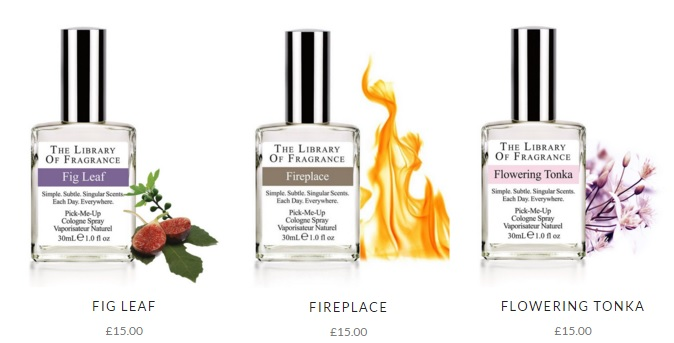 The Library of Fragrance perfumes