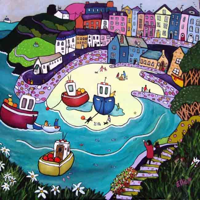 Tenby Beach Helen Elliott