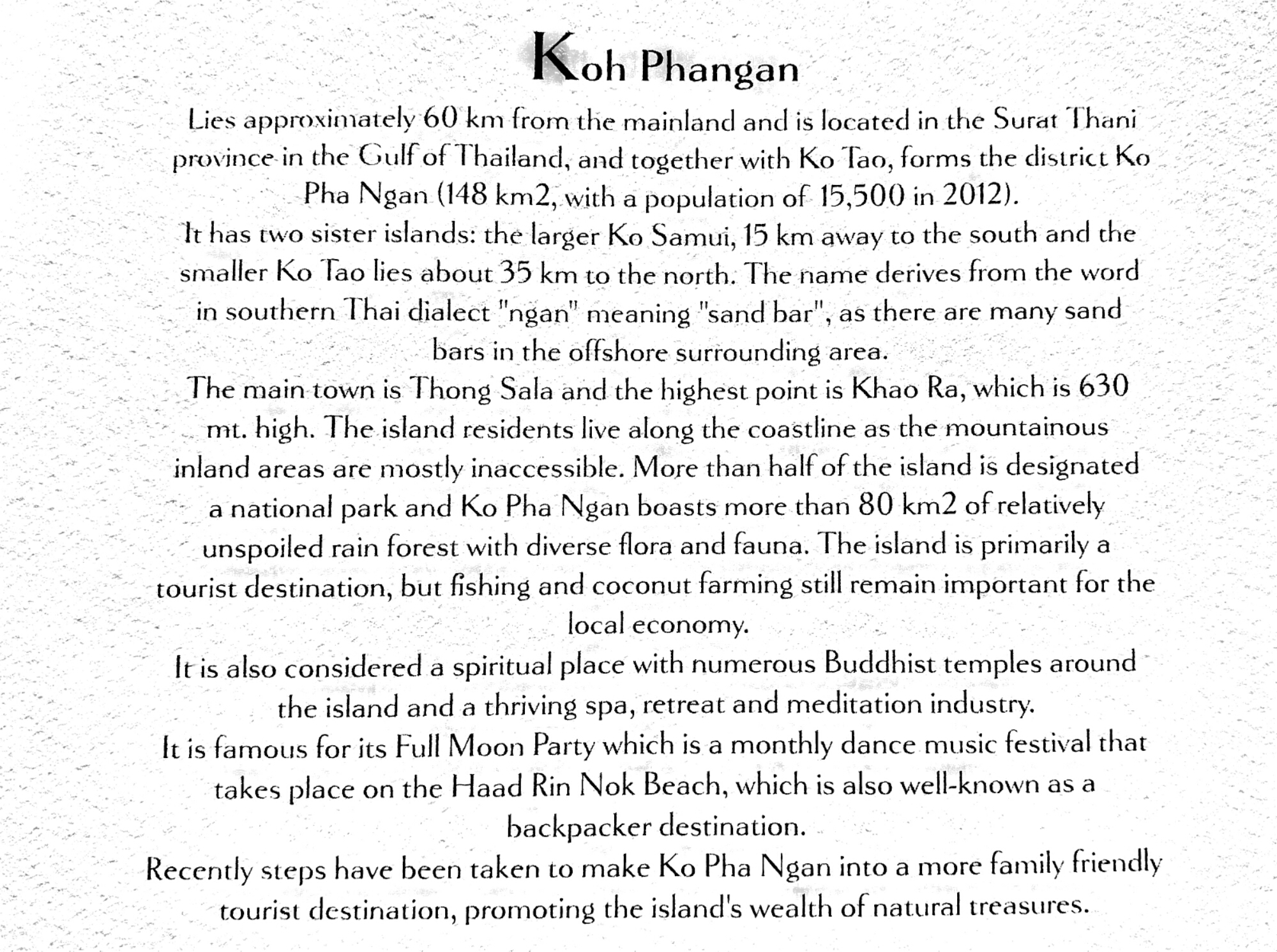 Koh Phangan information