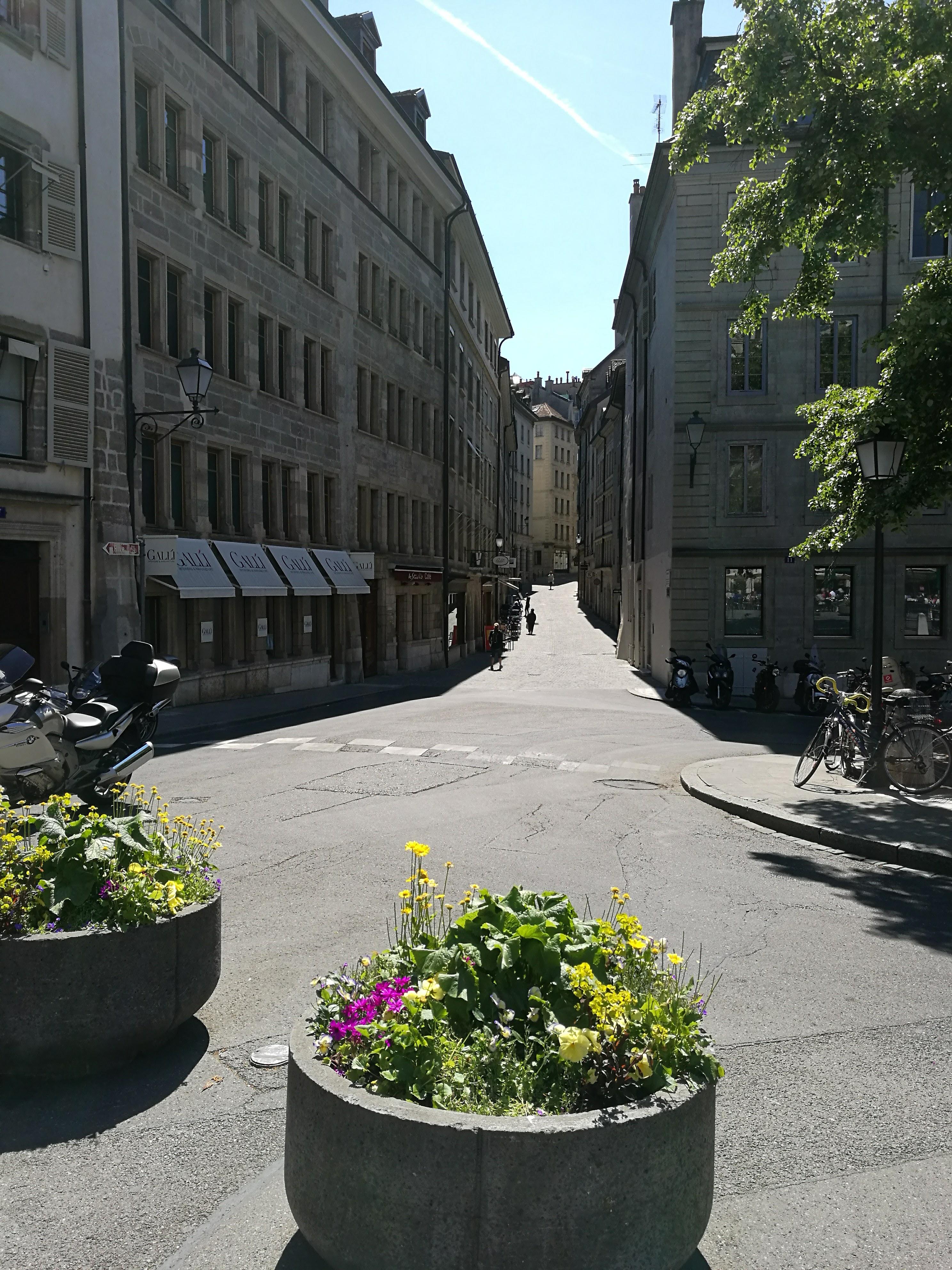 Streets in Geneva