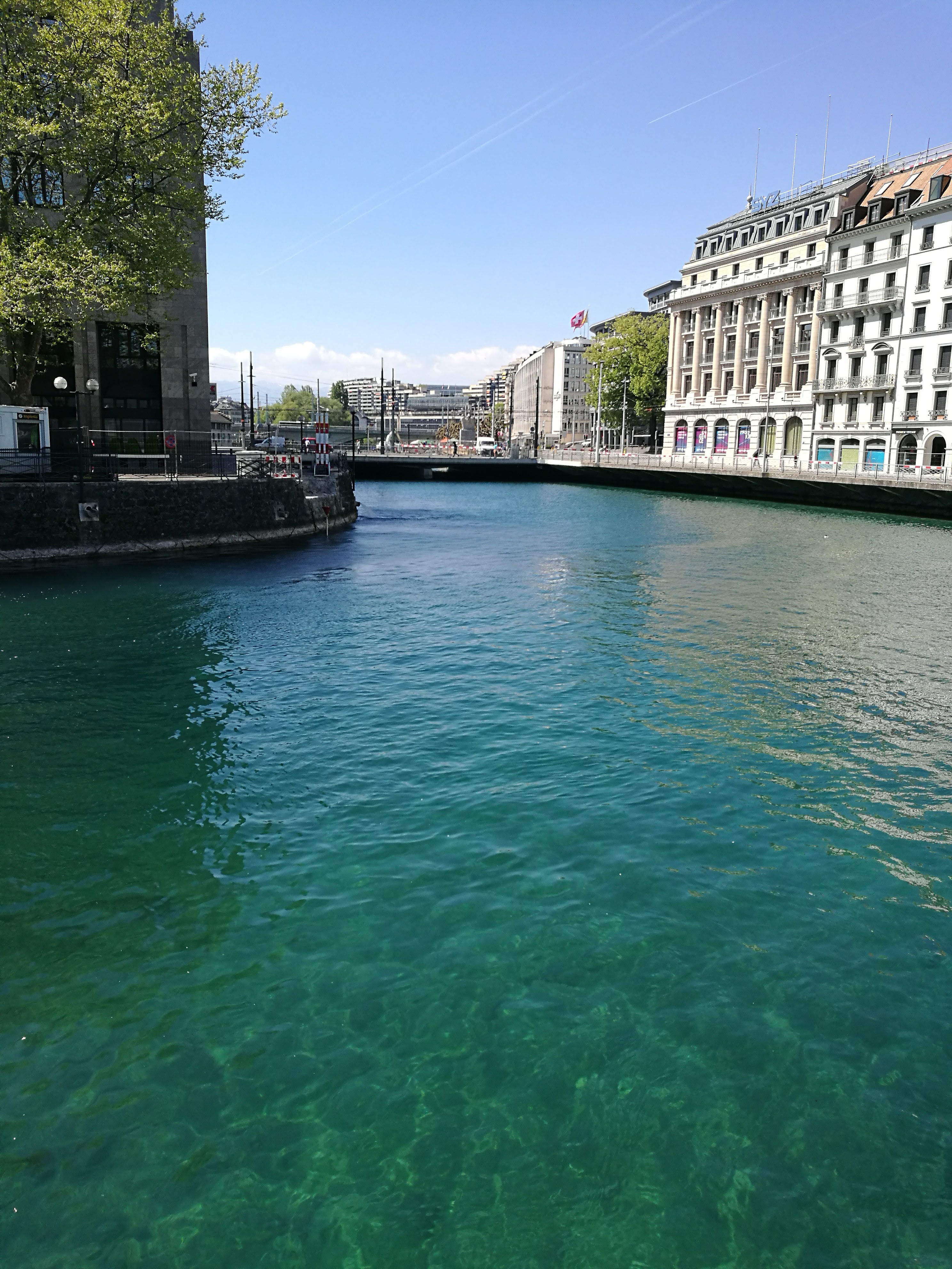 Clear water in Geneva City Centre