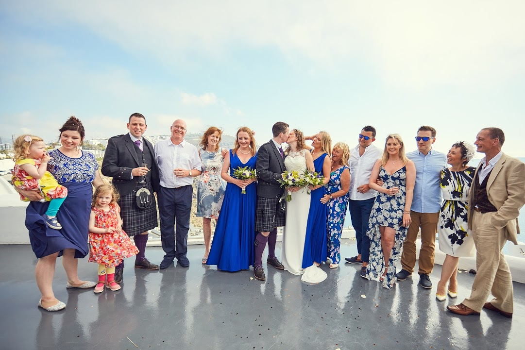 wedding family group