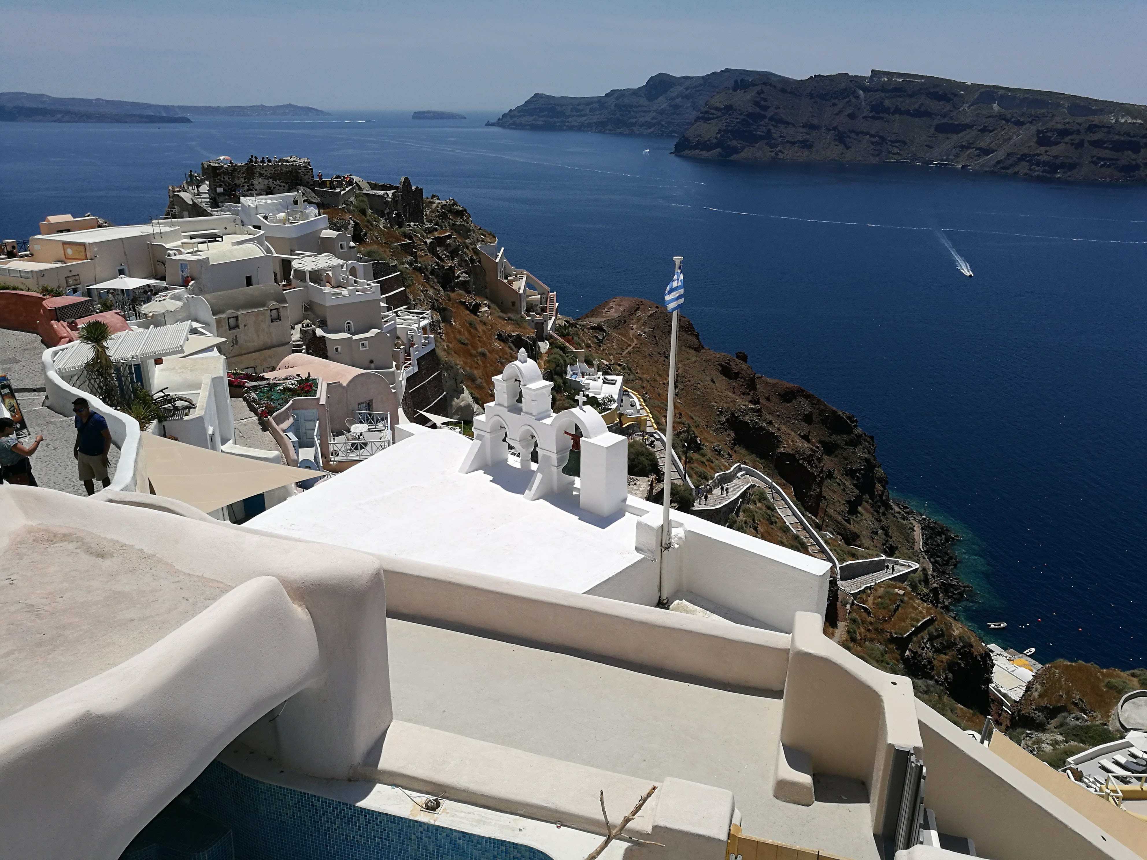View from Oia in Santorini