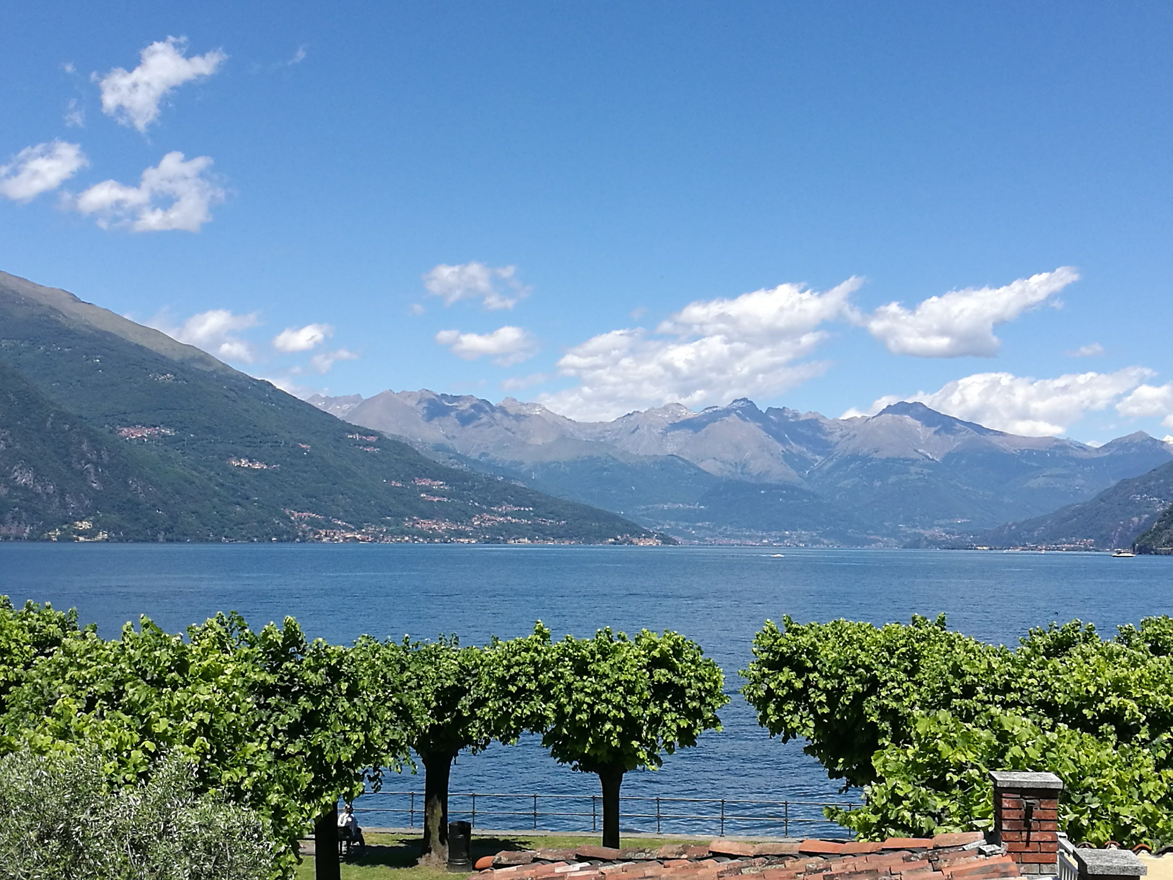 The view of Lake Como from Bellagio