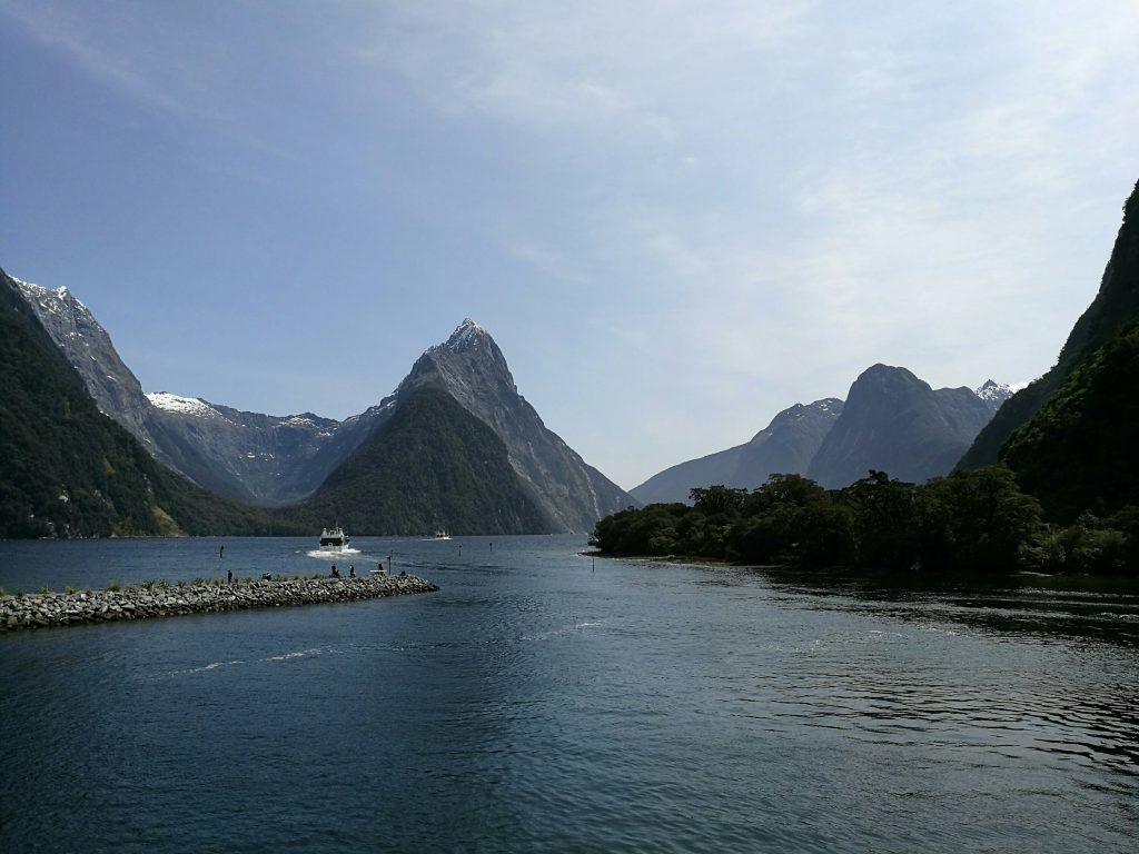 Mitre Peak in Milford Sound, South Island
