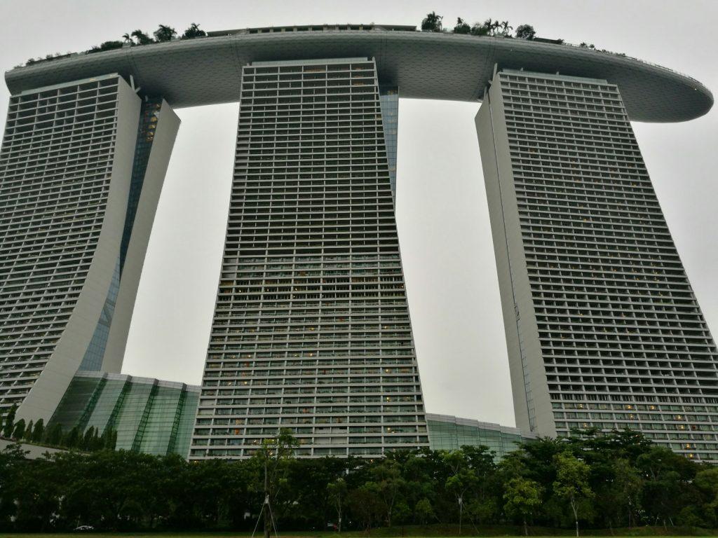 The huge Marina Bay Sands