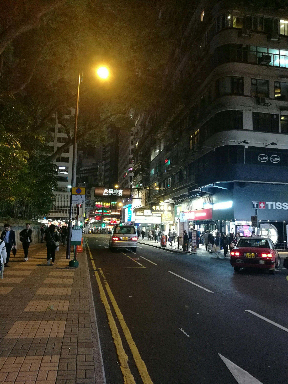 Hong Kong streets by night