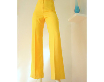 yellow bellbottoms