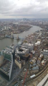 Looking at Tower Bridge from The Shard
