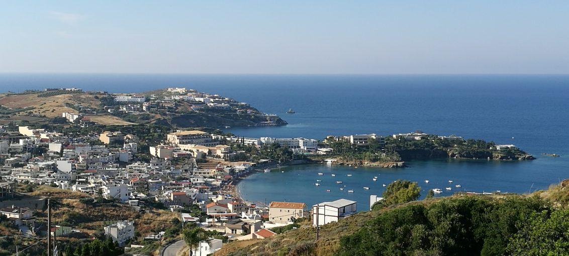 View from Pela Mare over Agia Pelagia