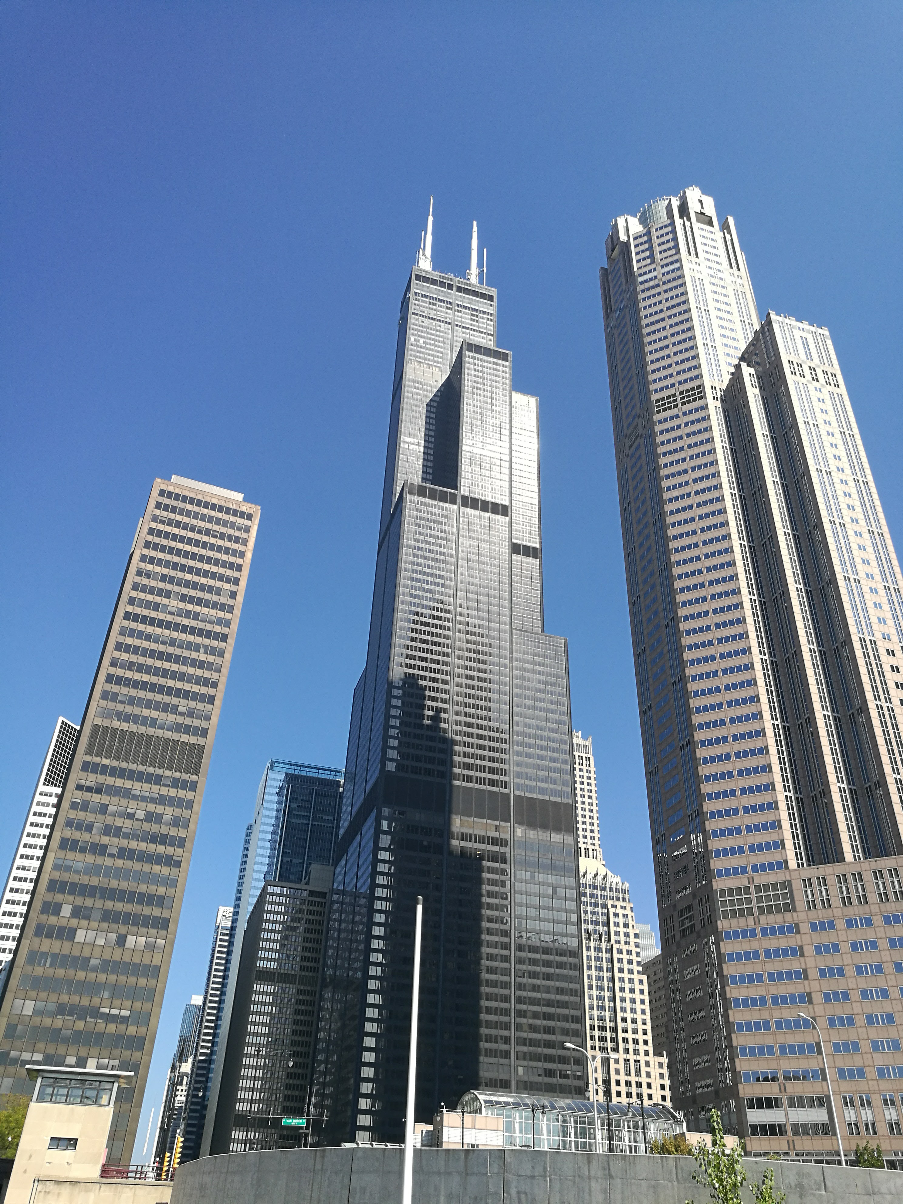 Looking up at some of Chicago's Tallest Buildings