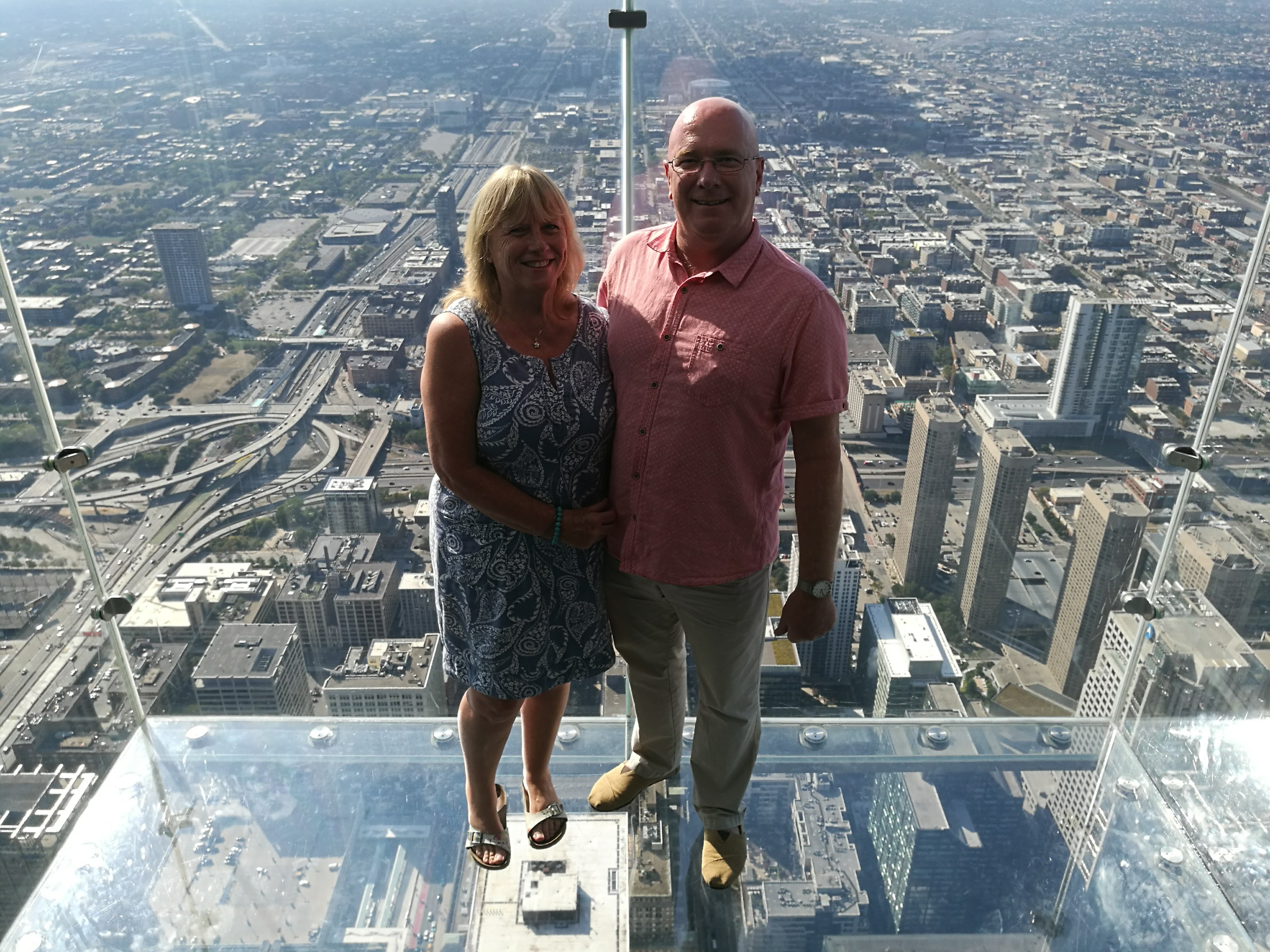 Mr and Mrs C on 'The Ledge'