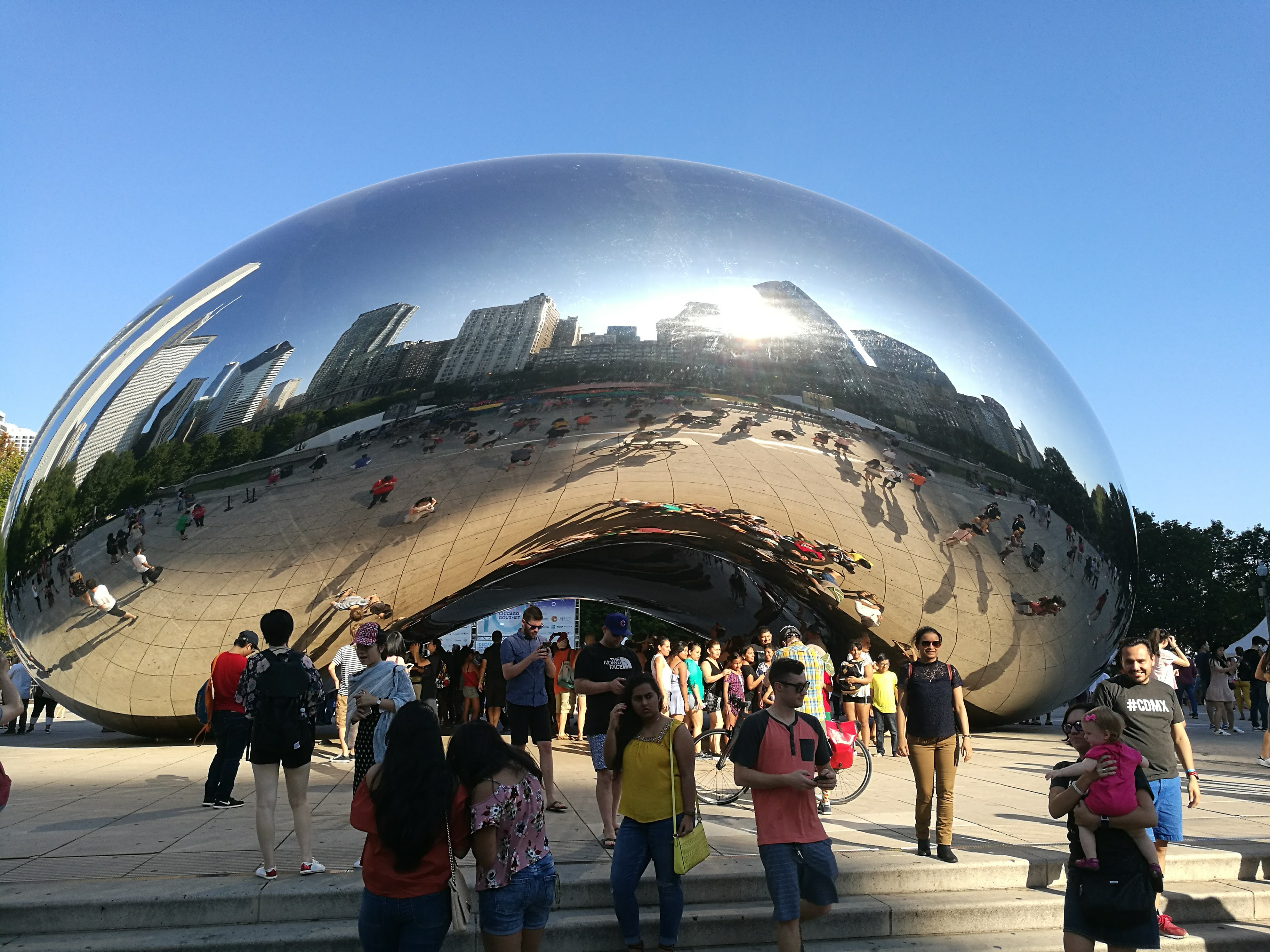 The Bean sculpture in Grant Park, Chicago