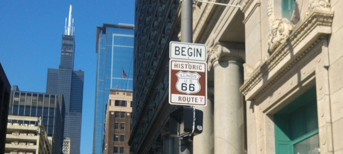 The start of Route 66