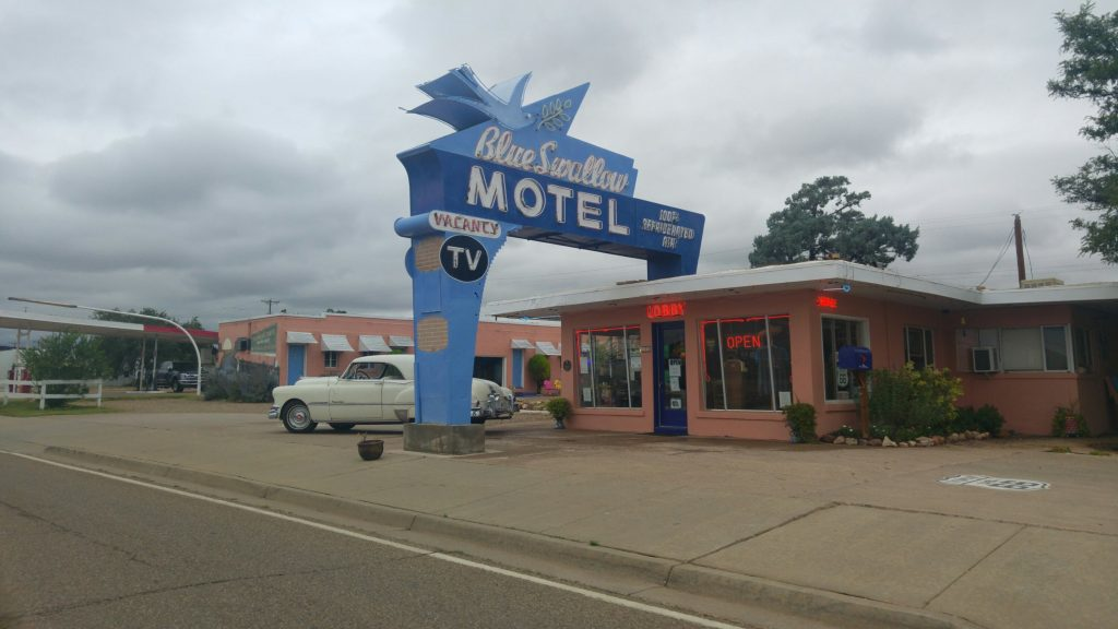 The Blue Swallow Motel in Tucumcari