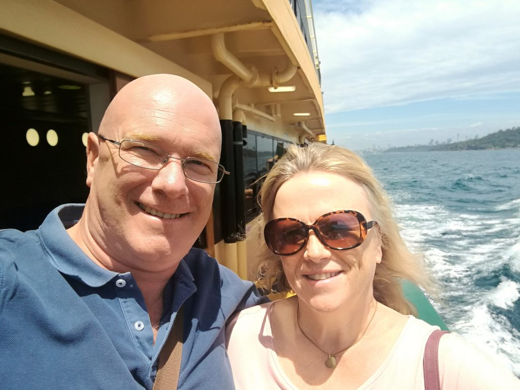 Mr and Mrs C on the Manly Ferry