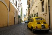 Old Yellow Fiat 500