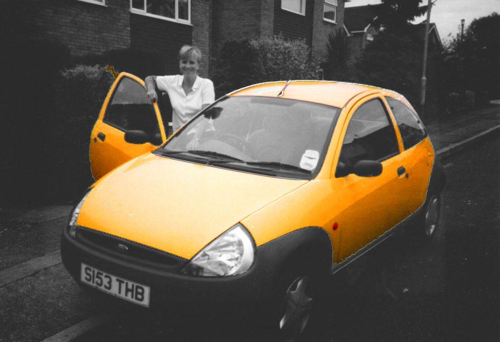 yellow Ford Ka
