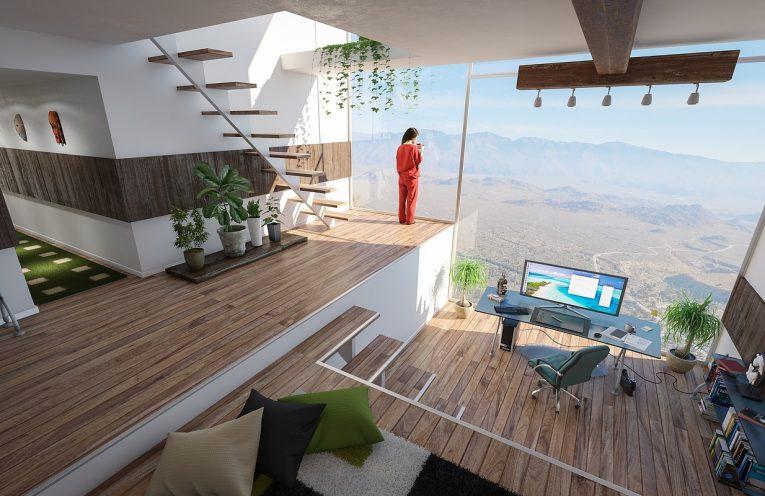 lighting in open plan house