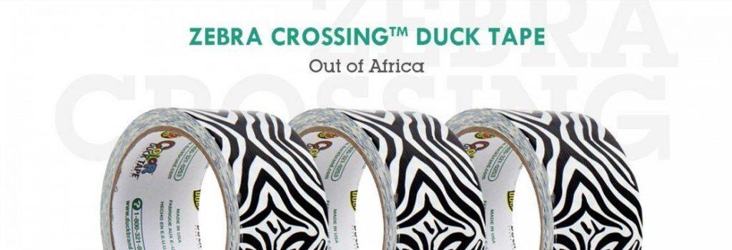 zebra duck tape