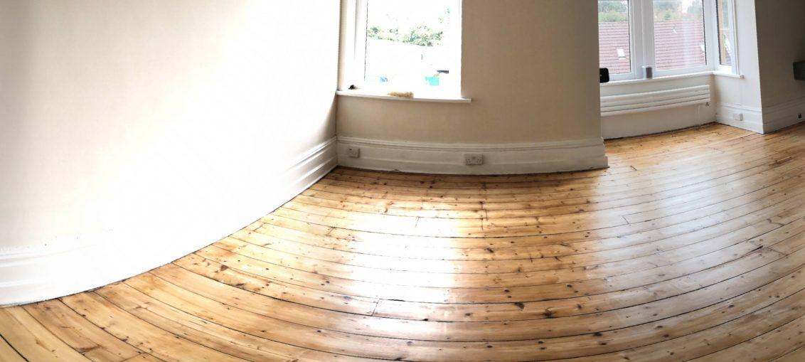 shiny new bedroom floor