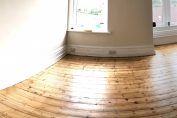shiny new bedroom floor